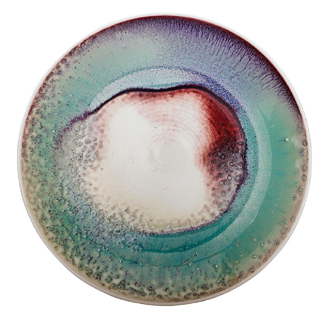 TOINI MUONA Glazed porcelain charger