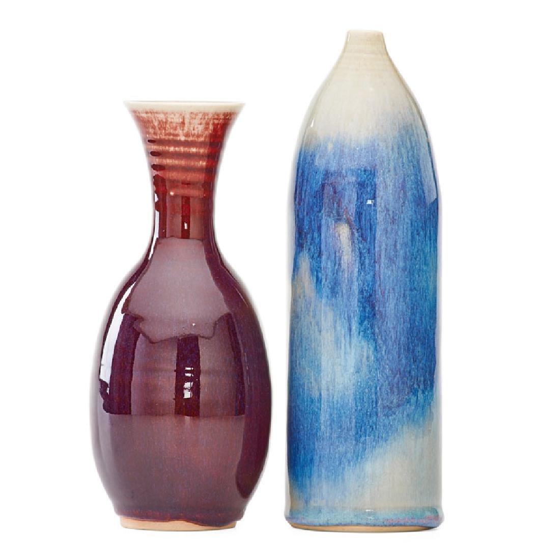 BROTHER THOMAS BEZANSON Two vases