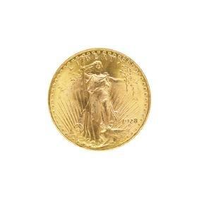1928 ST. GAUDENS $20.00 GOLD COIN