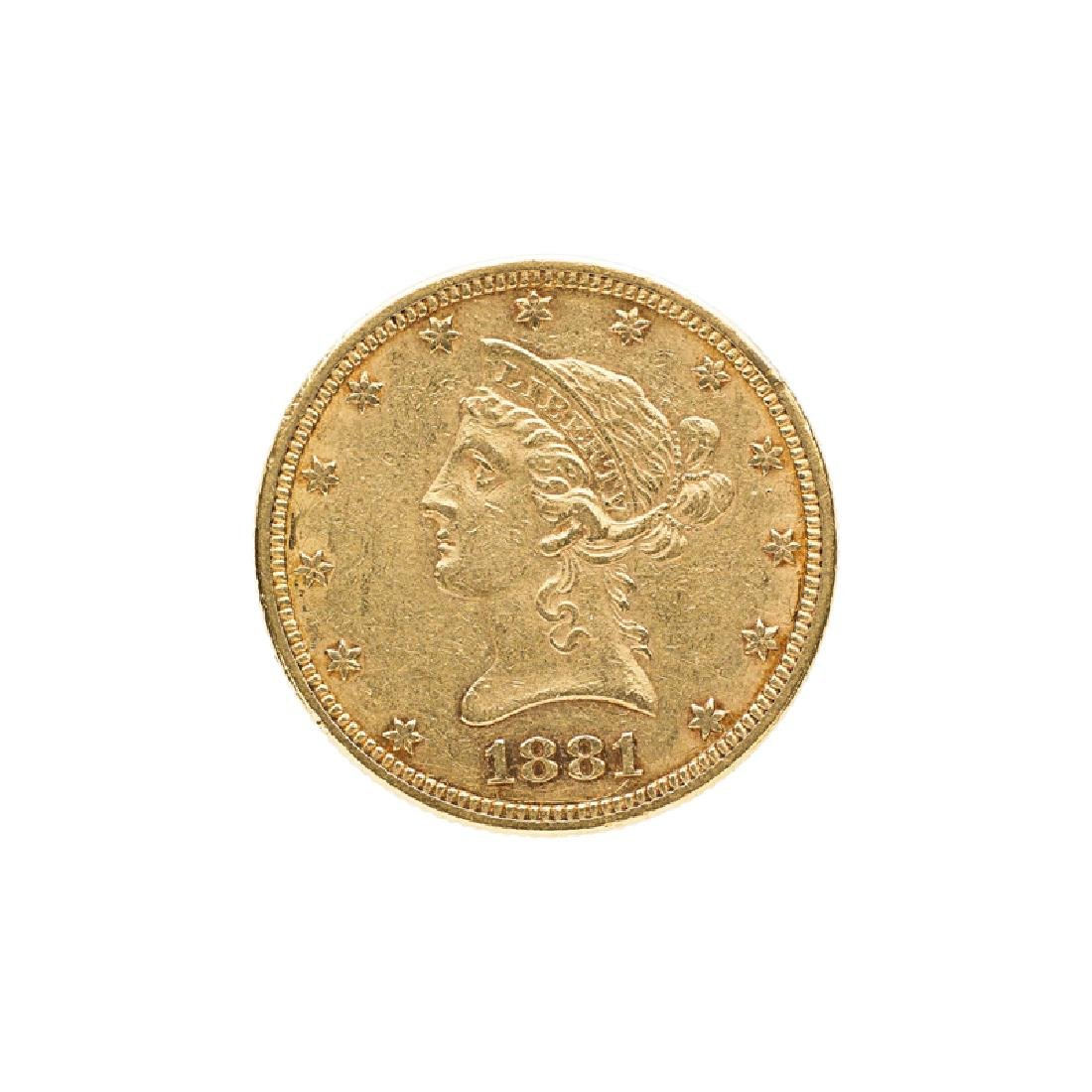 1881 $10.00 LIBERTY HEAD GOLD COIN