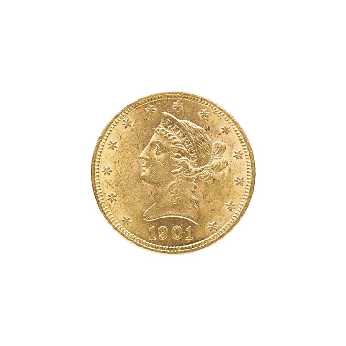 1901 $10.00 LIBERTY HEAD GOLD COIN