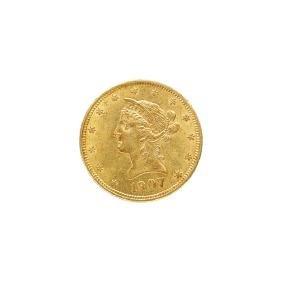 1907 $10.00 LIBERTY HEAD GOLD COIN