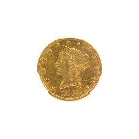 1854 $10.00 LIBERTY HEAD GOLD COIN