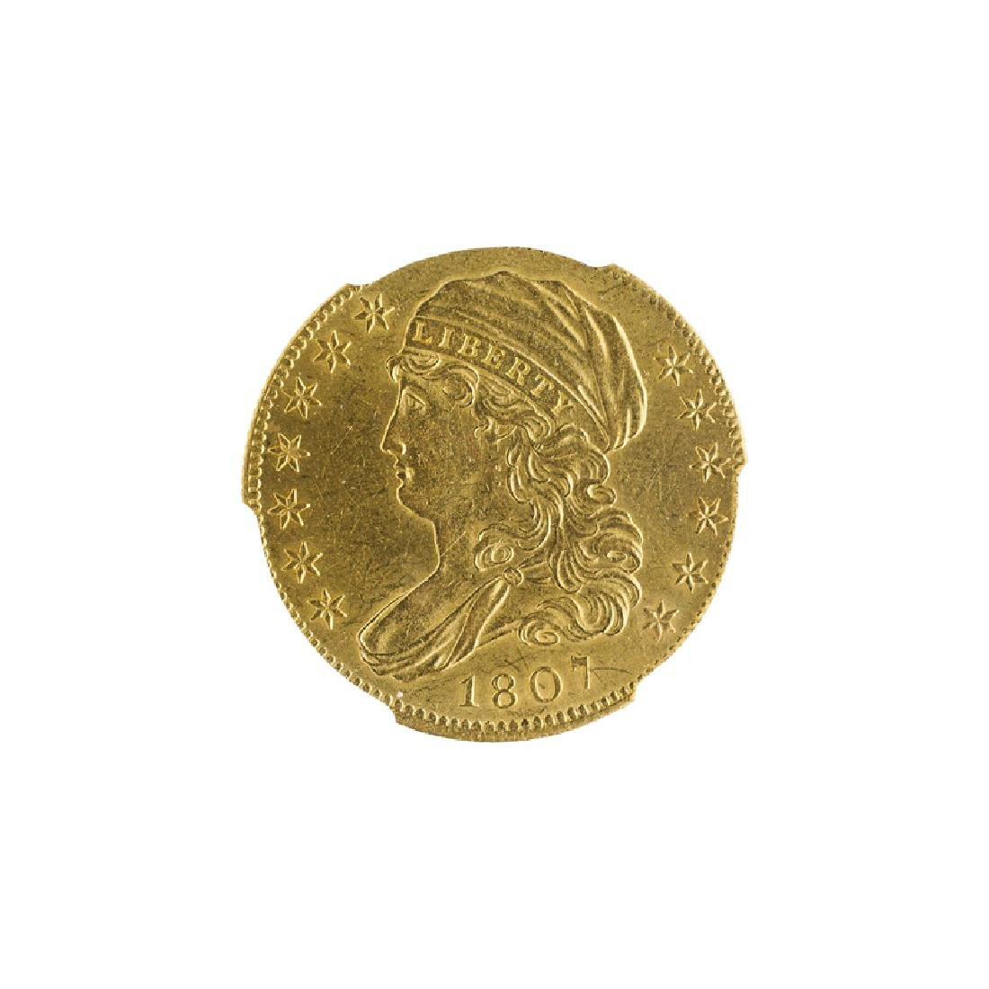 U.S. 1807 $5.00 CAPPED BUST GOLD COIN