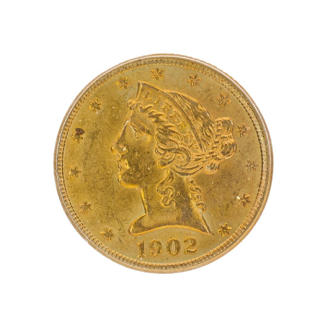 U.S. 1902-S $5.00 LIBERTY HEAD GOLD COIN