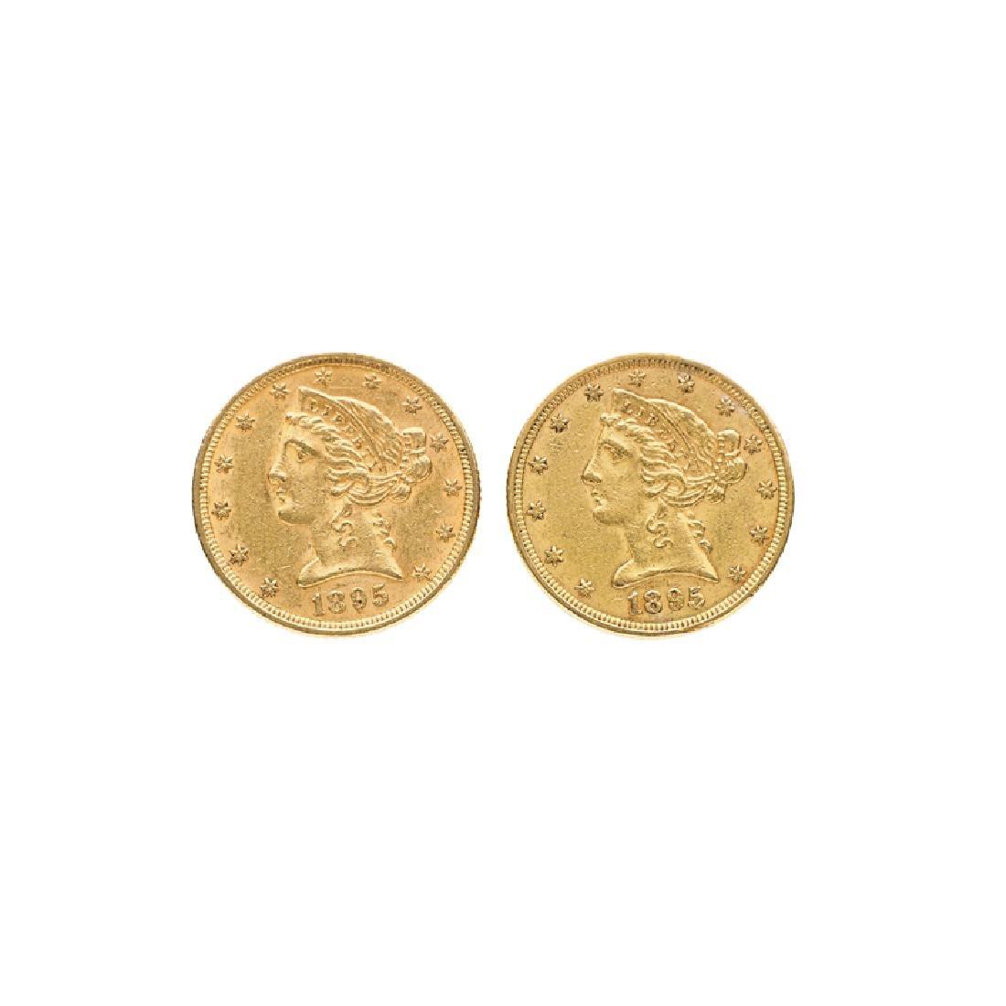 U.S. $5.00 LIBERTY HEAD GOLD COINS