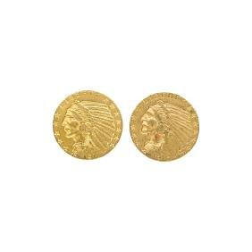 U.S. $5.00 INDIAN HEAD GOLD COINS