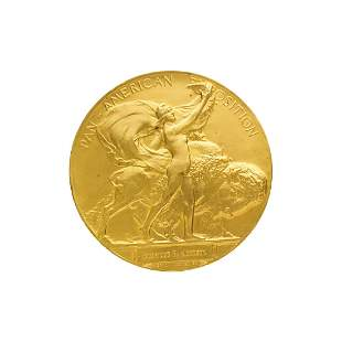 IMPORTANT PAN AMERICAN EXPOSITION GOLD MEDAL