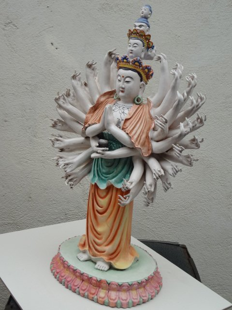 Exquisite Famille Rose Guan Yin with 'Thousand Hands'