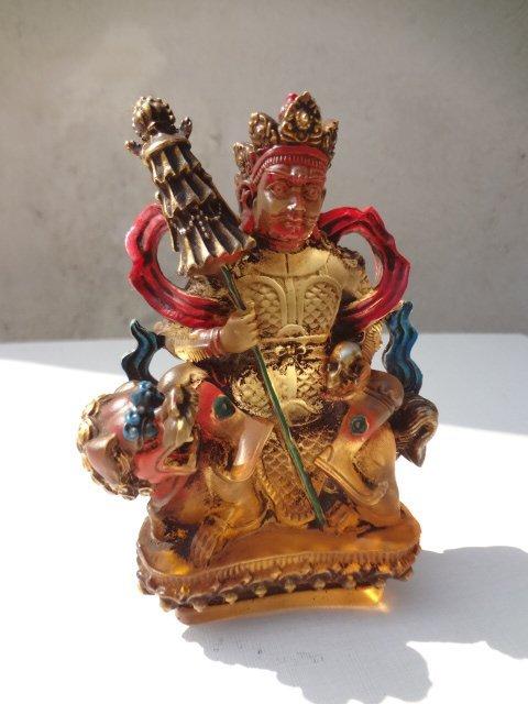 Rare Qing Dynasty Qianlong Period Crystal Guardian God
