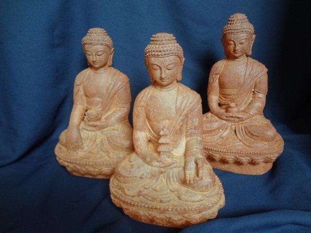 Tang Treasure:Set of Three Natural Rock Crystal Buddhas