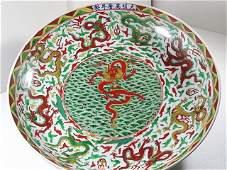 Ming Dynasty Treasure:Wanli Period Wucai Dragon Charger
