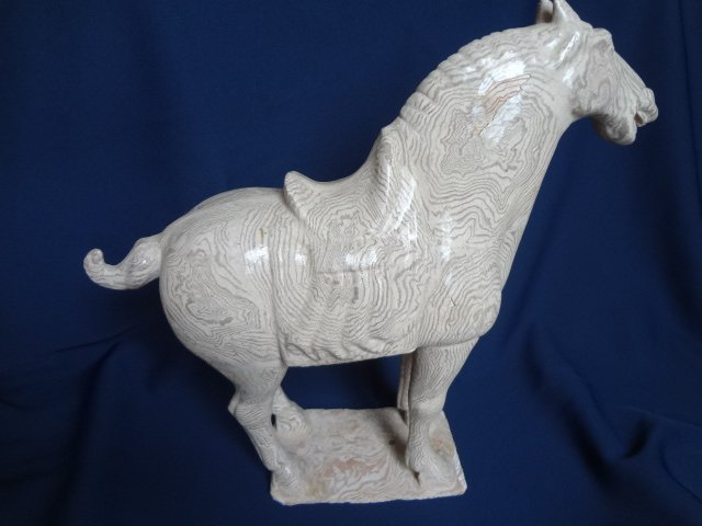 Rare Tang Dynasty Pottery Horse with Mixed Clay
