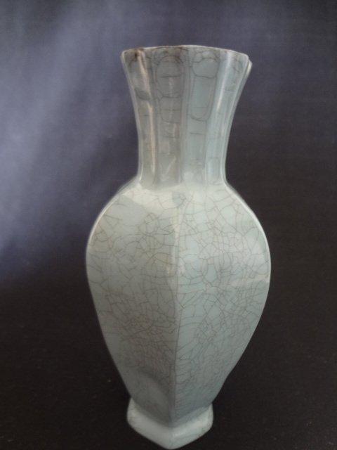 Song Dynasty Celadon Hexagonal Vase
