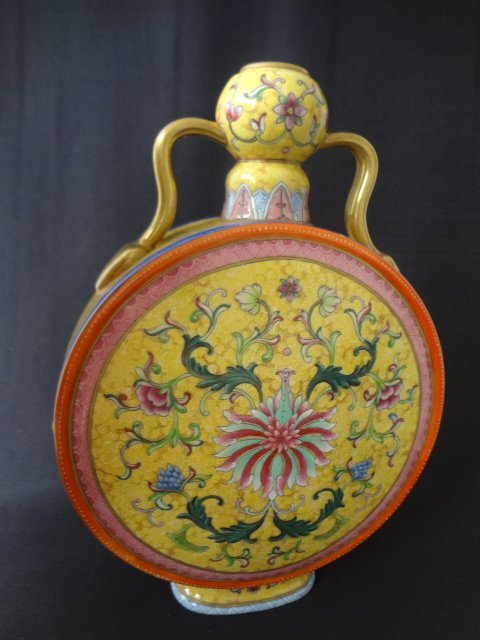 Qianlong Enamel Moonflask (with Authenticity Cert)