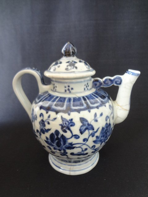 Ming Dynasty Flower Teapot (with Authenticity Cert.)