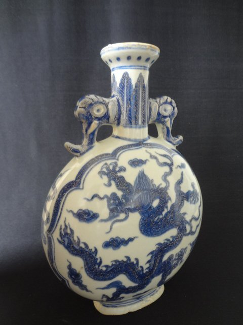 Ming Dynasty Dragon Moonflask (with Authenticity Cert.)