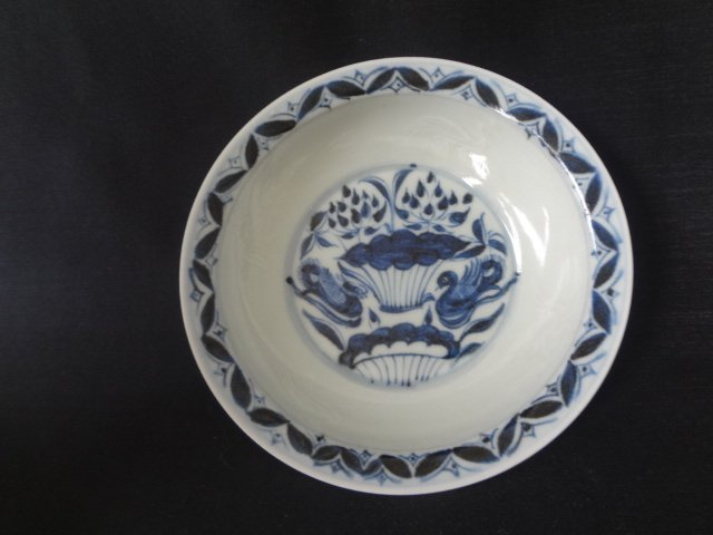 Ming Dynasty Mandarin Duck Plate with  Incised Swan