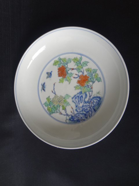 Qing Dynasty Yongzheng Daucai Plate (with Authenticity