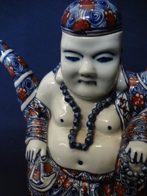 Qing Dynasty Underglaze Blue and Red Buddha Teapot - 2