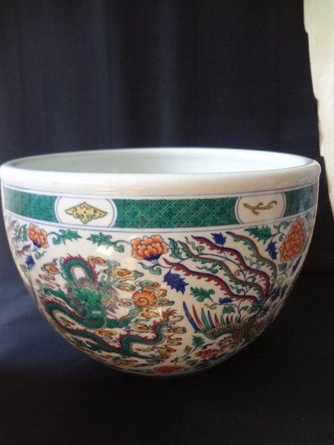 $8 Large Qing Dynasty Daucai Fish Bowl
