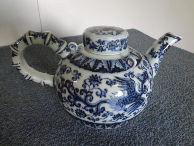 Rare Ming Dynasty Yongle Period Phoenix Teapot