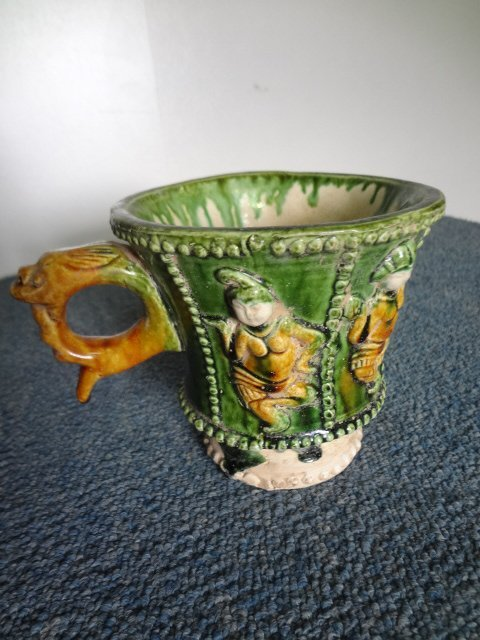 Very Rare Tang Dynasty Tri-color Cup