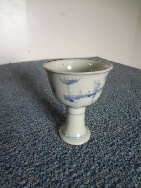 Ming Dynasty Blue-and-white Stemcup