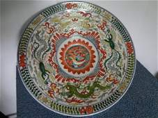 Magnificient Ming Dynasty Jiajing Period Wucai Charger
