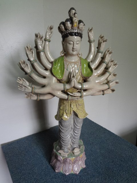Qing Dynasty Imperial Temple Enamel Guanyin