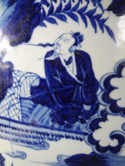 Rare Yuan Dynasty Binhu with Emperor of Zhou Dynasty - 5