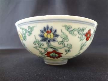 Important Ming Dynasty Chenghua Period Daucai Bowl