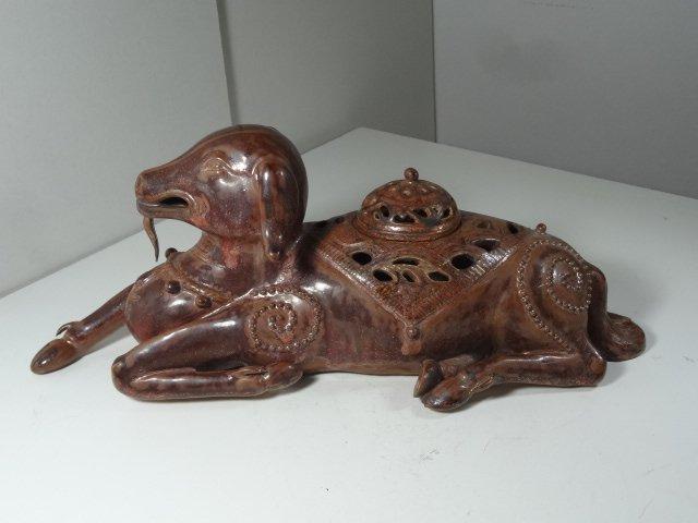 Song Dynasty Ding Kiln Ram Shape Incense Burner