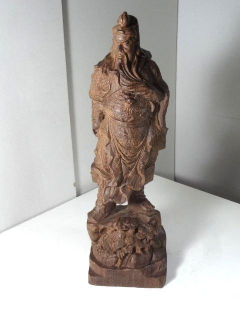 Agar Wood Carving of Three Kingdom Figure Guan Yu