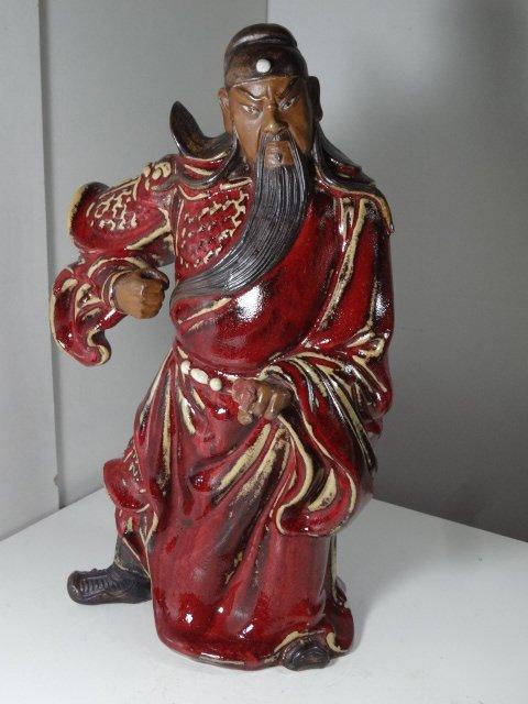 20th Century Jun Yao Three Kingdom Figure of Guan Yu