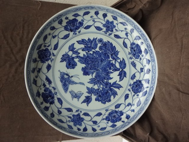 Magnificent Ming Dynasty Xuande Period Floral Charger