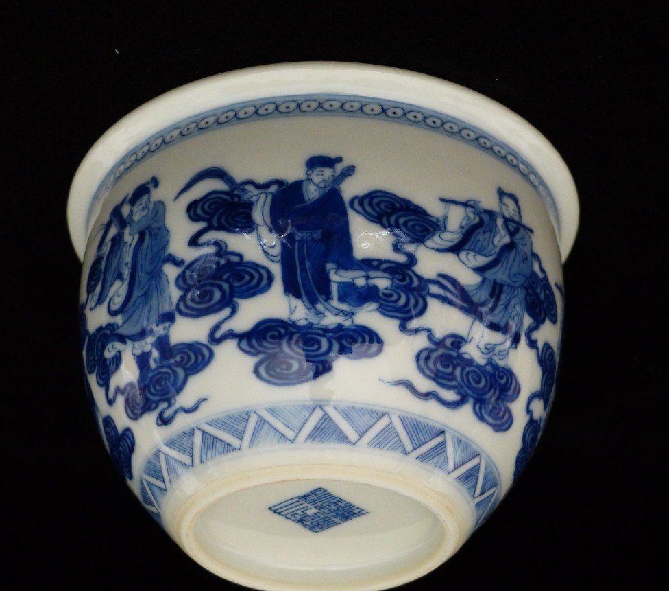 Qing Dynasty Qianlong Periods Eight Immortals Fish Bowl