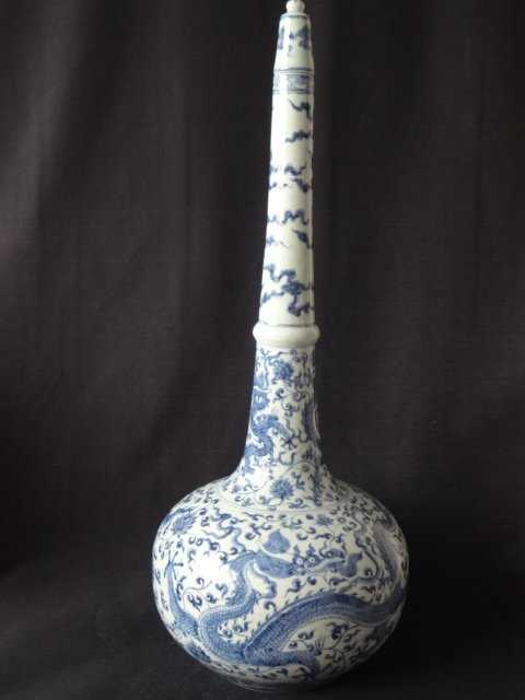 Exquisite Ming Dynasty Chenghua Period Long Neck Vase