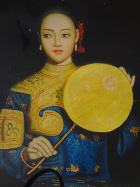 Oil Painting on Canvas of Portrait of Mandarin Lady