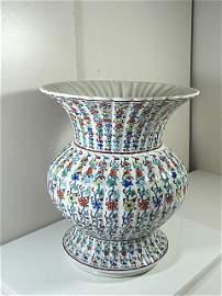 Qing Dynasty Yongzheng Period Doucai Chrysanthenum Vase