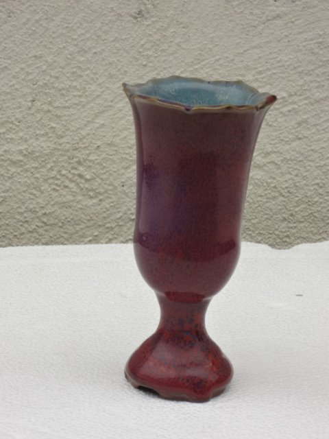 Elegant Ming Dynasty Floral Shape Jun Yao Wine Cup