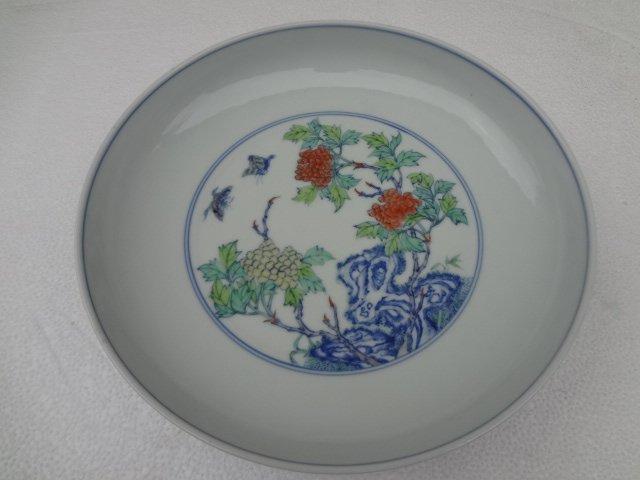 Rare Qing Dynasty Yongzheng Period Doucai Plate