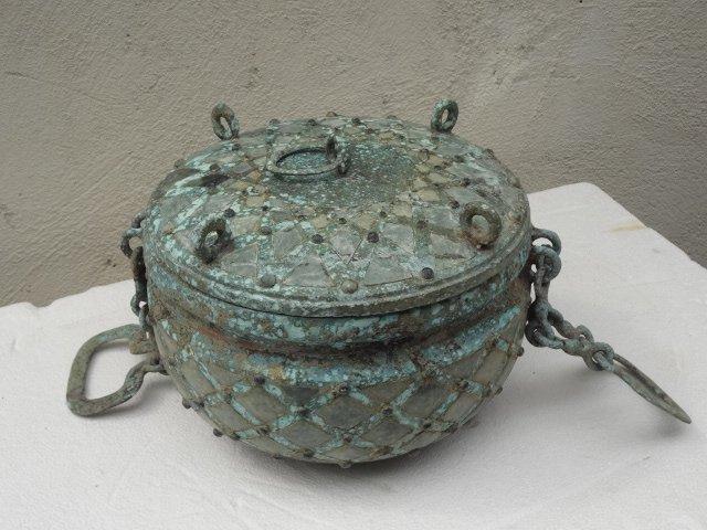 Warring States' Treasure:  Bronze Vessel w/ Jade Inlaid