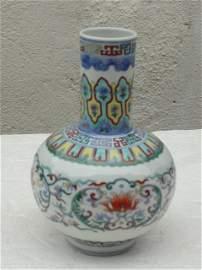 Magnificent Qing Dynasty Qianlong Period Doucai Vase
