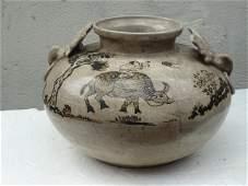 Elegant Song Dynasty Cizhou Yao Pot with Cow Boy Motif