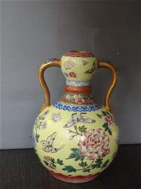 Exquisite Qing Dynasty Qianlong Period Butterfly Vase