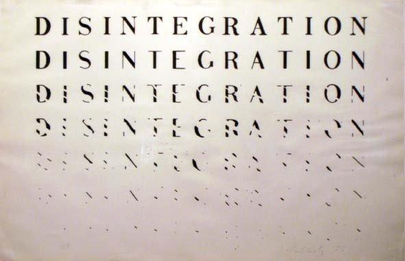 "7: LITHOGRAPH, """"DISINTEGRATION"""", SIGN R. KOSTELANETZ"