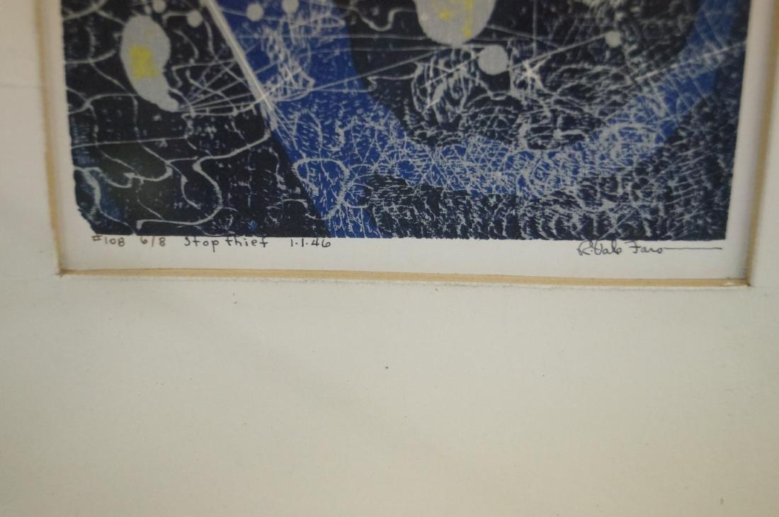 ROBERT VALE FARO (AMERICAN 1902-1988), COLOR SERIGRAPH, - 2