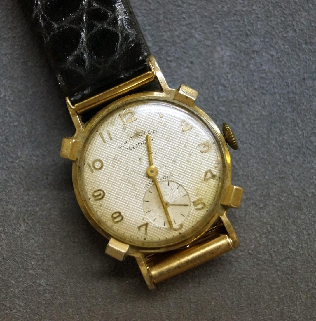 VINTAGE HAMILTON/ILLINOIS 14K 17-JEWEL MECHANICAL