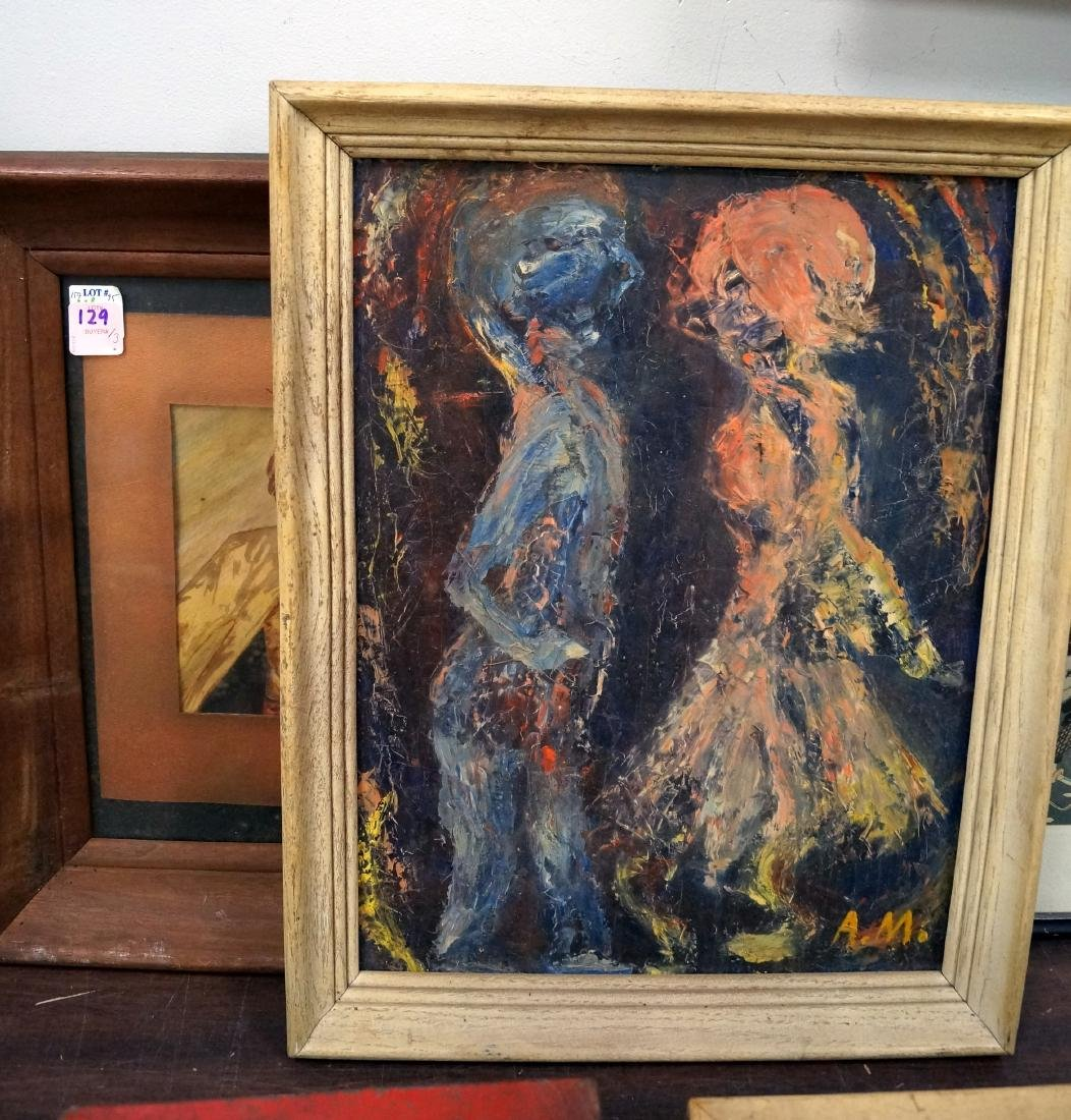 LOT (3) FRAMED ART WORKS INCLUDING (2) ORIGINAL MODERN